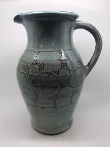 Large Light Blue Nicholas Hillyard (Axminster) Studio Pottery Jug
