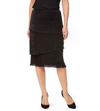Liz Jordan designer collection Black lined rib layered Audrey SKIRT XL 18 NEW