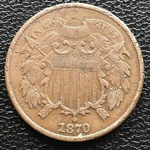 1870 Two Cent Piece 2c High Grade #16059