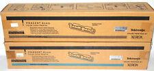 2 Xerox PHASER 6200 BLACK CYAN Toner Cartridges Genuine 016200800 OEM