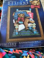 "Designs For The Needle Cross Stitch Kit 5611 "" Mr. Bear"" New Leisure Arts"