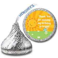 You Are My Sunshine - Personalized Hershey Kiss Birthday Party Sticker Labels