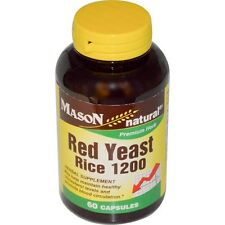 Red Yeast Rice, 60 Capsules, 120mg Per Serving - Premium - Mason Natural