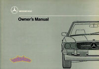 560SL OWNERS MANUAL MERCEDES 1989 BOOK HANDBOOK GUIDE 560 SL 107