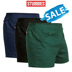 SALE Stubbies Original Work Short Shorts Elastic Back Cotton Drill Summer SE2010