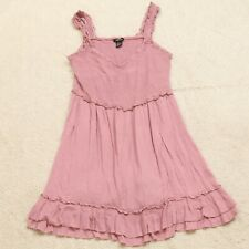 """Large Rue21 Pink Rayon Woman's Solid V-Neck Sexy Dress Women's Casual 16"""" x 32"""""""