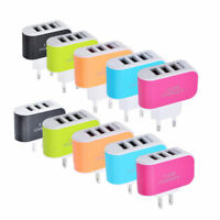 3 USB Port 5V 3.1A Phone Wall Home Travel AC Fast Charger Adapter US/EU Plug Hot