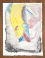 """FRANCISCO TOLEDO BIG SIZE 23"""" x 17.5"""" GOUACHE INK ON THICK PAPER PAINTING"""