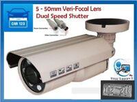ANPR License Plate Camera 650TVL 5-50 Lens, Dual Shutter Speed