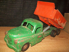 SRTUCTO DUMP TRUCK W HYDRAULIC LIFT OPENING HOOD TANDEM DUALLS TOY COLLECTIBLE