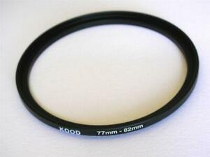 STEP UP ADAPTER 77MM-82MM STEPPING RING 77MM TO 82MM 77-82 FILTER ADAPTER