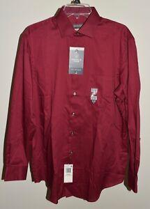 New Mens Van Heusen 15 1/2 Dress Shirt Regular Fit 32/33 Red Medium