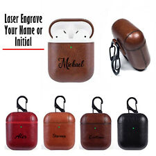 For Apple AirPod Case Leather Protective Cover for Apple AirPods 2 1 Keychain