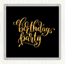 Black Gold Birthday Party Quote Drinks Mat Coaster