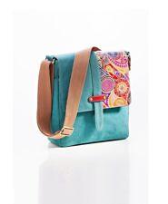 """Damen-Umhängetasche """"Indira"""" Handtasche Tasche Tragetasche aus Leder & Baumwolle"""