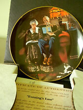 "Rockwell's Light Campaign- ""Evenings Ease"" - Collector Plate-Ge"