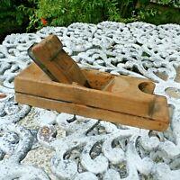 Antique Vintage Handmade Wood Carpenter Tool Primative Woodworking Hand Plane