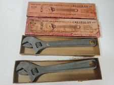 2 Cresent Tool Co AC18 Thin Head Adjustable Wrenches Crestoloy Steel in Orig Box