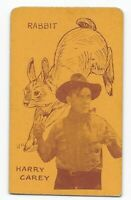 Rare 1920's Film Star & Animals Strip Card Harry Carey / Rabbit