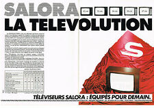 PUBLICITE ADVERTISING  1982   SALORA   télévision de demain (2 pages)