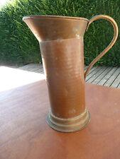 Ancien broc pichet à eau en cuivre et laiton art populaire vieux metier