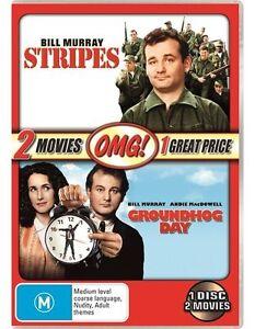 Stripes & Groundhog Day 1 Disc 2 Movies Bill Murray Region 4 DVD Brand New