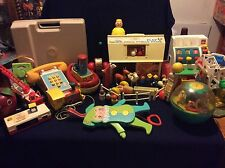 Vintage 60's 70's Fisher Price LOT! Family Farm, Ferris Wheel, Record Player ECT
