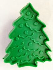 """Green 3"""" Decorated Xmas Tree Cookie Cutter Art Mold"""