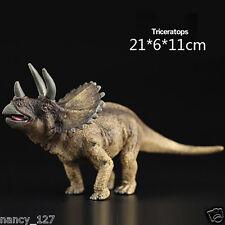 Triceratops Prehistoric Dinosaur Model Figurine Animal Figure Toy Collectible