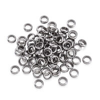 304 Stainless Steel Ring Metal Beads Smooth Tiny Spacer 4mm 5mm 6mm 7mm 8mm 10mm