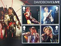 New Rare DAVID BOWIE LIVE TOURS Royal Mail 2017 Ziggy Collector Stamp Sheet