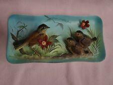Enesco Robin Bird plaque Vintage Porcelain Japan Ceramic look here 3 d look