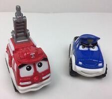 Tonka Maisto 2004 Hasbro Chuck & Friends Blue Police & Fire Truck