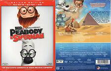 MR PEABODY E SHERMAN BLU RAY 3D + BLU-RAY + DVD (NUOVO SIGILLATO) SLIPCASE