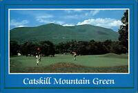 Golf putting Catskill Mountain Green New York ~ vintage postcard