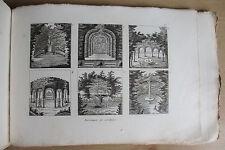 Manuel complet de l'Architecte des Jardins (1834) 39 plates (of up to 120)
