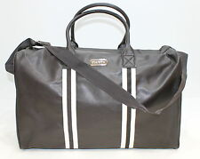 Aramis Mens Faux Leather Brown Holdall / Travel Bag