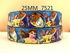 "10 yards 1""(25mm)Beauty and the Beast high quality printed polyester ribbon"