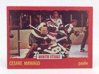 1973 74 OPC O Pee Chee Cesare Maniago 127 Minnesota North Stars Hockey Card E674