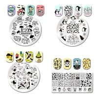 Nail Art Stamping Plates Cute Animal Image Manicure Stencil Templates Decor DIY