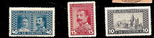 OUTBREAK OF WWI ASSASSINATION OF ARCHDUKE FERDINAND MINT OCCUPIED BOSNIA STAMPS