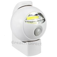 WOWlights LED Motion Sensor Light Wireless PIR Swivel Security Door Wall Lamp