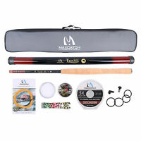 12ft Tenkara Fly Rod & Accessories Complete Kit Fishing Line Flies Carry Case