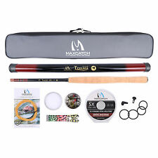 Tenkara Fly Rod & Accessories Complete Kit Fishing Leader Line Flies Carry Case