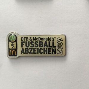 DFB Deutscher Fussball Bund McDonalds Fussball Abzeichen 2009 Pin !!
