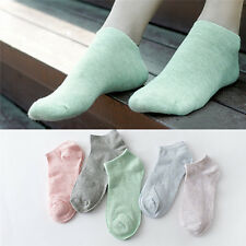 Women Low Cut Cotton Fashion Boat Ankle Socks Random Color anti-slip socks 3C