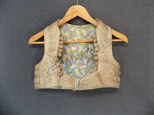 Antique Folk Textile Balkan Traditional  Kosovo Women's Vest - Metal Embroidery