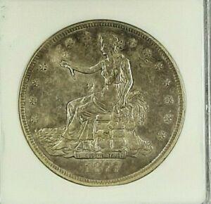 1877 S TRADE DOLLAR OLD ANACS HOLDEREF DETAILS DAMAGED/CLEANED NET VF20.