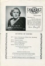 Karin Branzell Knabe Piano Ad 1940's Original Vintage Ad Advertisement