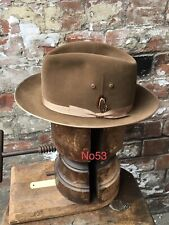 55cm GENUINE VINTAGE WEGENER FEDORA HAT TRILBY WW2 DEMOB SUIT ROCKABILLY